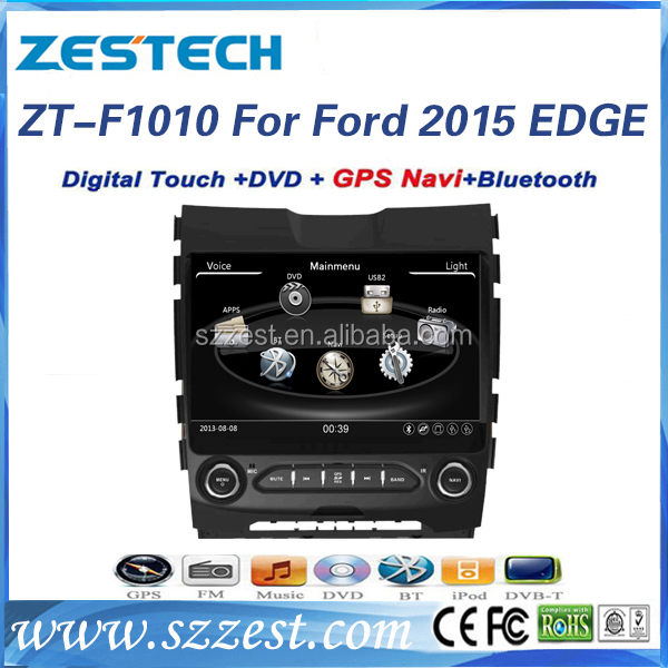 "2015 10"" HD Screen Car DVD GPS Bluetooth Wifi 3G Audio Video Player, for ford edge/"