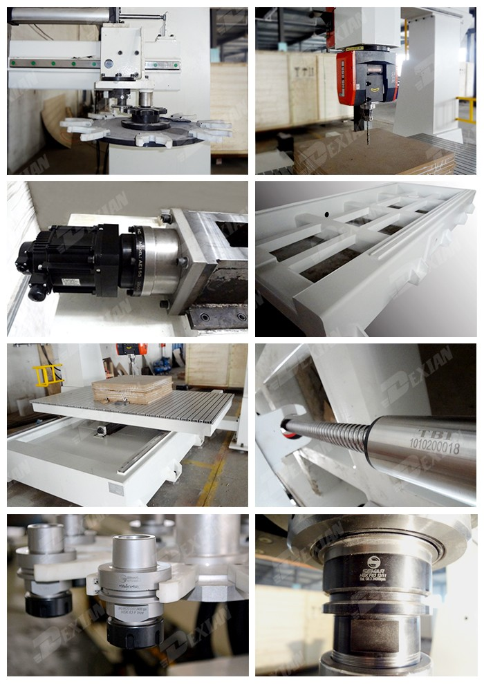 Top quality 3d mold making wood cnc milling machine price, 5 axis cnc router for foam cutting , EPS , wood , plastic