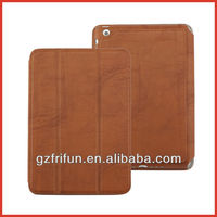 brown colorful belt clip case for ipad mini