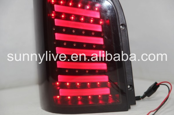 For Volkswagen T5 Caravelle Multivan LED Strip Tail Light LED Rear Lights Smoke Black Color2003-2015 JY