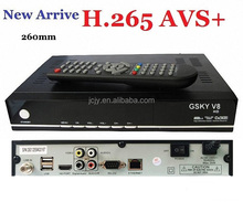 2017 Newest GSKY V8 HD Global Auto Roll powervu DVB-S2 H.265 Full hd satellite receiver
