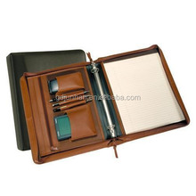 Zipper folder with 3 ring binders, business portfolio