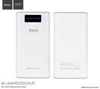Original HOCO B3-20000 Series ABS+PC 20000mAh White Digital Power Bank For Universal Phone PH-078