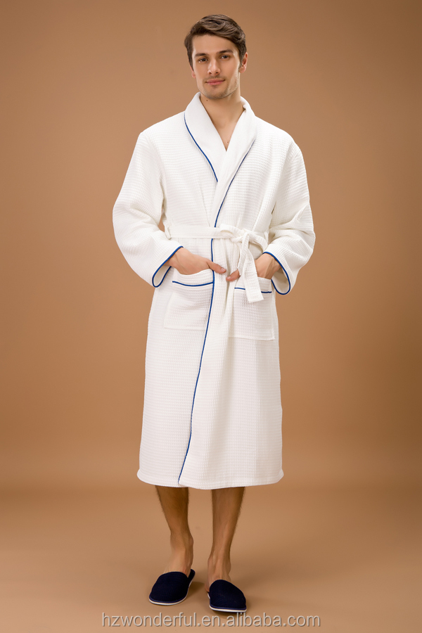 white double layer waffle bathrobe/ choir robes