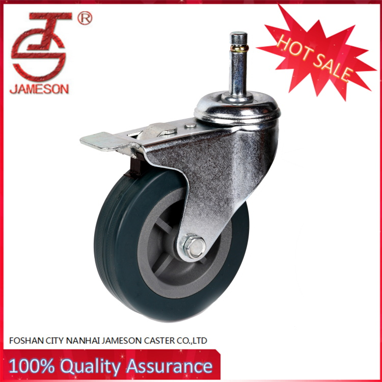 medium duty cart casters and rubber swivel castor