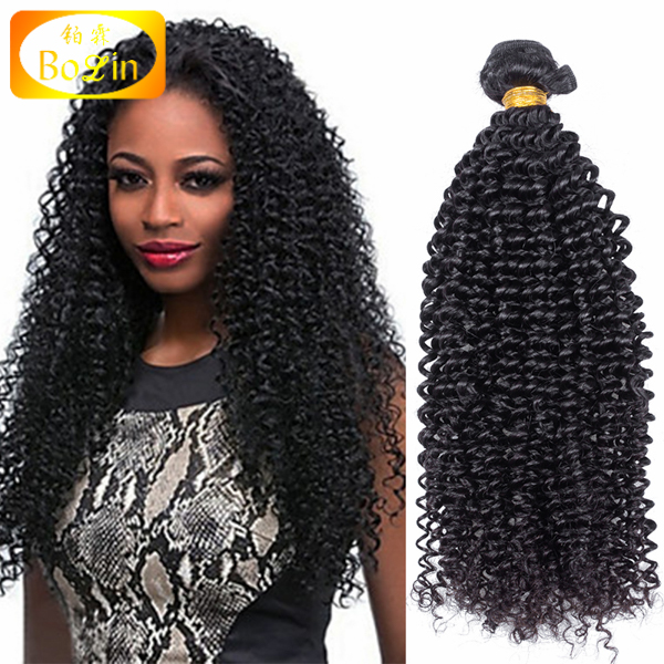 Wholesale cheap brazilian hair weaving afro kinky curl brazilian human hair weave