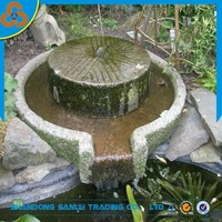 Decorative home garden antique old stone millstone for sale