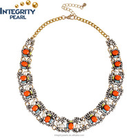 wholesale fashion jewelry necklace crystal rhinestone statement choker collar colourful necklace