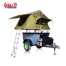 4x4 Atv Military Small Mini Offroad Camping Trailer with Portable Camping Trailer Tent