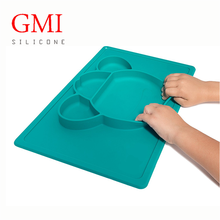 BPA-free silicone baby placemat with plate for kids