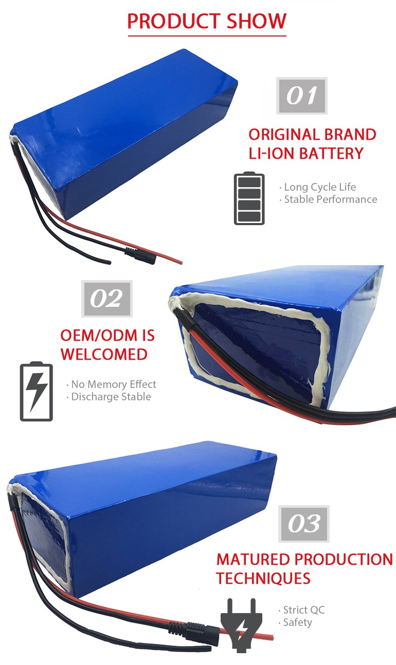 China supplier 48v 20ah Silver Fish Lithium E Bike Battery Pack power volt battery