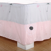 100% cotton quality king bedskirts bed sheet size for sale with low price