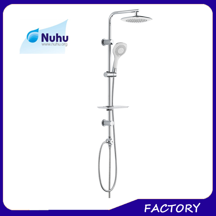 2017 new design yuyao shower factory 3 functions rain bathroom shower set