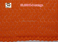 african wedding orange cotton lace fabric of CL10044 orange