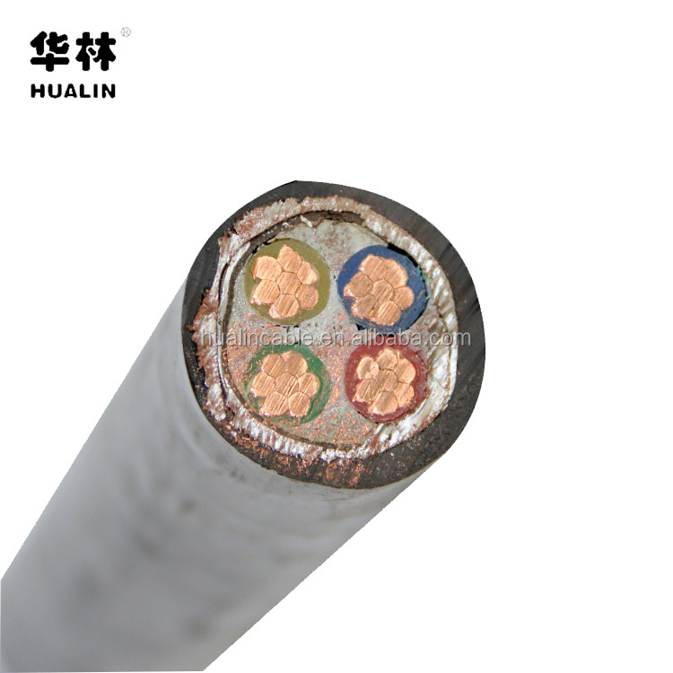 CU/XLPE/PVC House Wiring Electrical Power Cable 4 Core 25mm with armoring layer