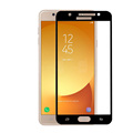 Black border silk tempered glass screen protector for samsung j7 max factory whosales price 9h 2..5d tempered glass for j7 max