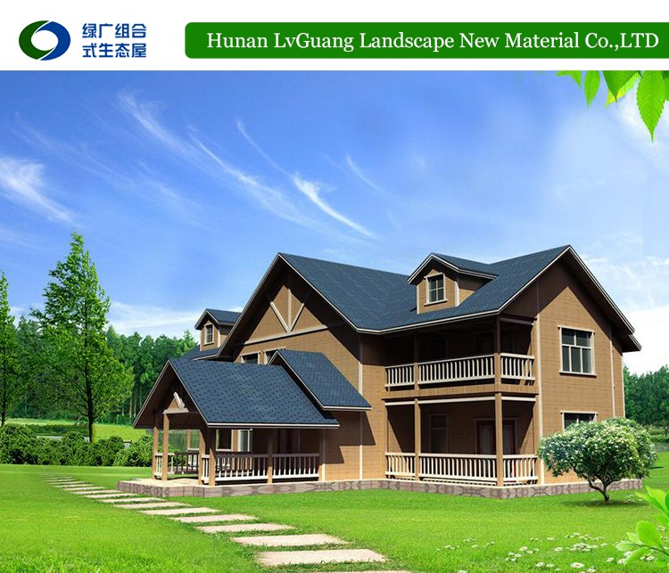 Economical two-storey wooden villa Luxury Design Light steel frame prefab house