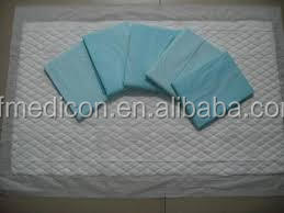 High grade disposable absorbent underpad for hospital use