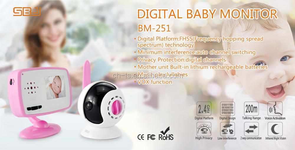 home secure camera monitor digital channels night light monitor baby video camera monitor