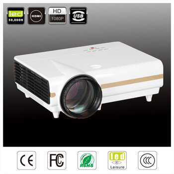 Top rank 3500 lumens HD LCD video projector 1080p domestic cinema LED projector/projetor