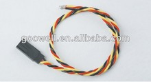 multi color male or female waterproof servo twisted extension cable