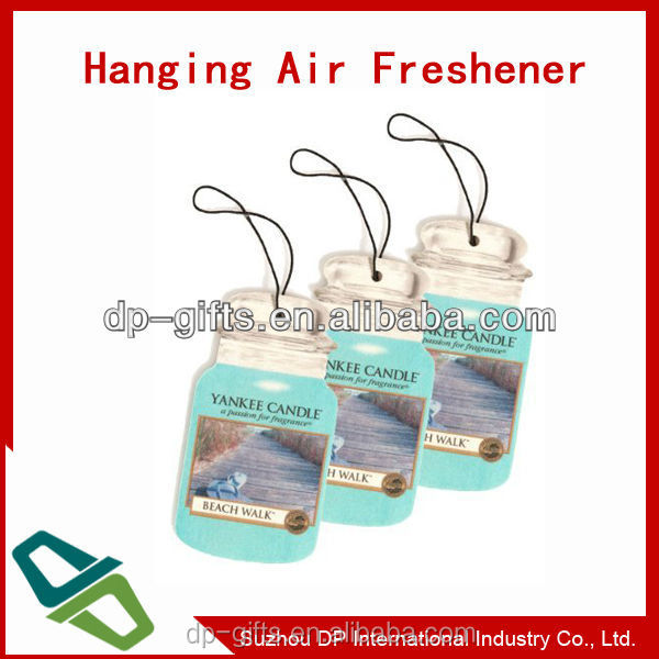 Hanging Car air Freshner/ Paper Air Fresher for promotion