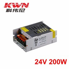 KWN Industrial Constant Voltage 24v 200w Led Power Supply 8a