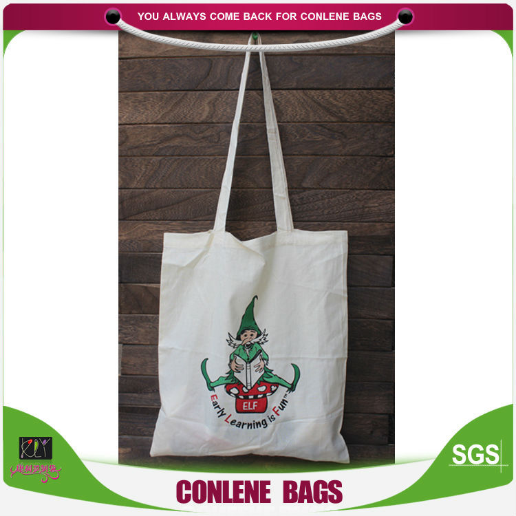 cotton textile shopping bag