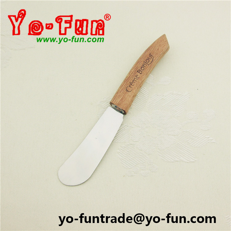 GJH096 high quality Italy brand stainless steel wooden handle butter knife
