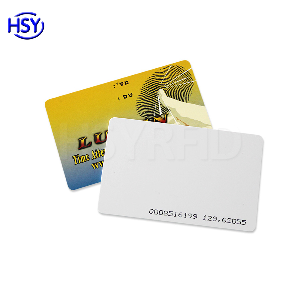 Low cost Customized printing Proximity PVC 125khz smart rfid access control key cards with serial number