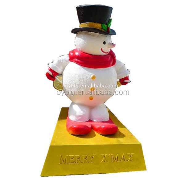 New design fiberglass skiing snowman for event and holiday