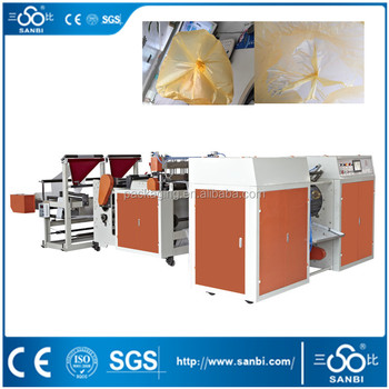 Automatic Double lines without core garbage bag making machine
