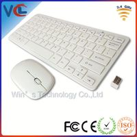 usb cordless white keyboard & mouse combo