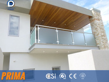 fancy outdoor aluminum glass balustrade for porch