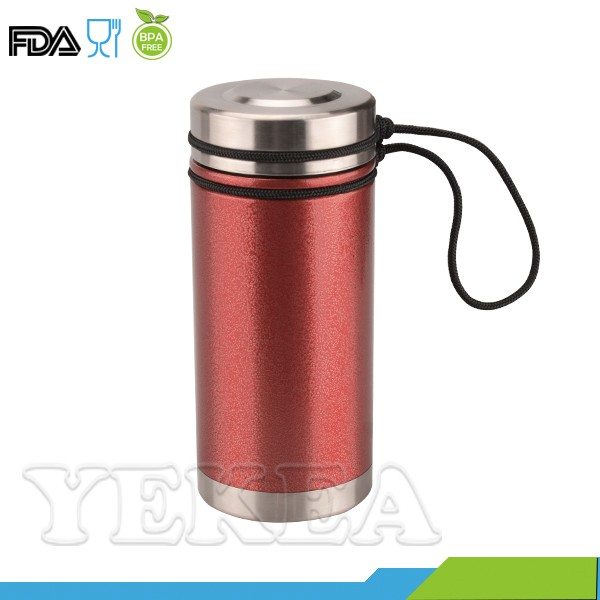 Canteen 5 -- 500 ml spray lacquer double wall vacuum thermo mug stainless steel water canteen bottle