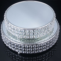Newest sale special design round plate 2-layer cake stand for wedding with good offer