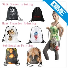2016 High Quality Eco Friendly Girls Backpack Bags Shopping Drawstring Bags