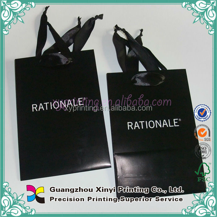 2014 Fashion Design Small Folding Pape Gift Bags Shopping bags