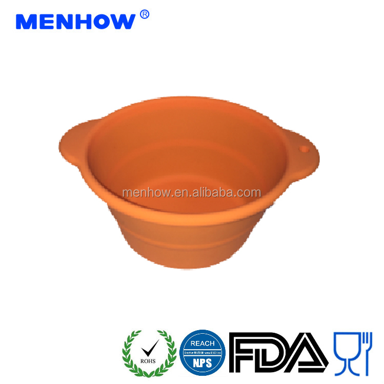 Safety And Eco-Friendly Silicone Dog Food Bowl travel dog Bowl collapsible pet cup