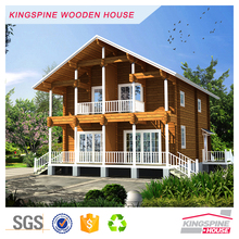 2-floor Wooden house prefabricated log cabin KPL-101