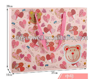 Candy stripe paper bags wholesale