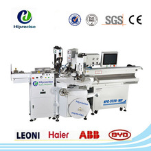 Automatic cable terminal cutting crimping machine with seal insertion
