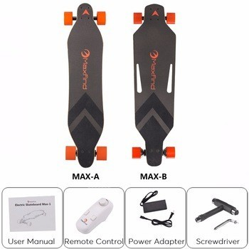 Popular 1200W power boosted board dual motors 4 wheel electric skateboard with remote