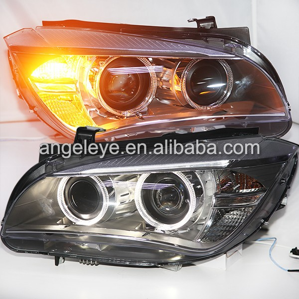 For BMW X1 E84 2009-2014 Year LED Head Lamps Headlights with HID Xenon Bulbs
