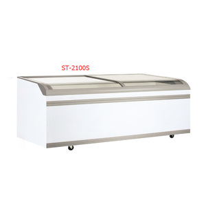 Good quality display combination island freezer for supermarket