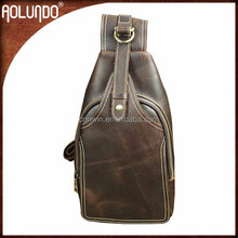 High quality crazy horse men leather backpacks wholesale