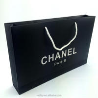 famous brand luxury design low cost paper cosmetic bag for packaging