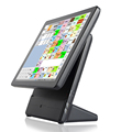 "2017 retail 15"" POS Terminal EPOS system touch screen computer for supermarket"