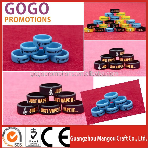 Wholesale 22mm silicone vapor ring vape rubber bands with custom logo,Top sale vaping band silicone mini elastic vapor band ring