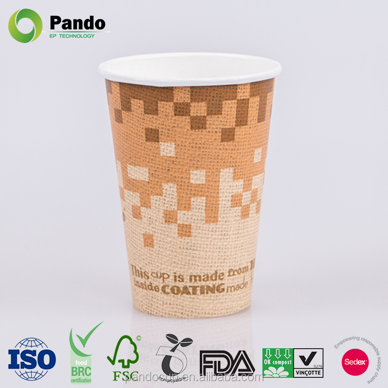 Hot drink disposable custom paper tea cups/coffee cups with lids